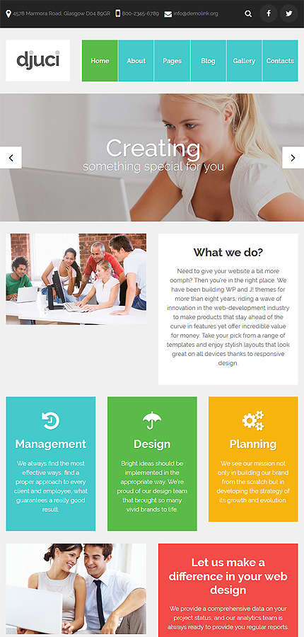 Joomla Theme/Template 61208 Main Page Screenshot