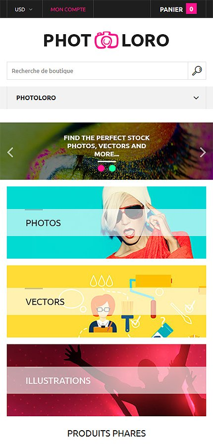 ADOBE Photoshop Template 61209 Home Page Screenshot