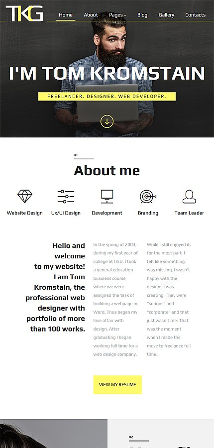Joomla Theme/Template 61213 Main Page Screenshot