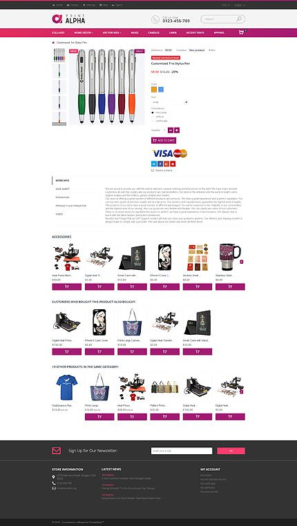 ADOBE Photoshop Template 61216 Home Page Screenshot