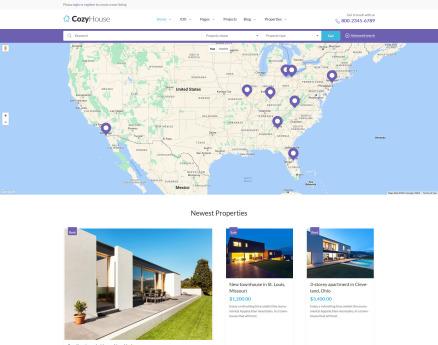 CozyHouse - Real Estate Premium WordPress Theme