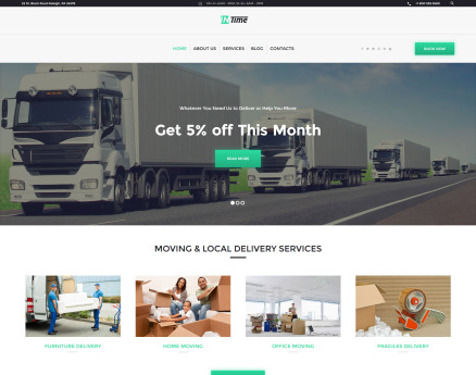 InTime - Delivery Services WordPress Theme
