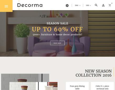 Decorma - Furniture Responsive PrestaShop Theme
