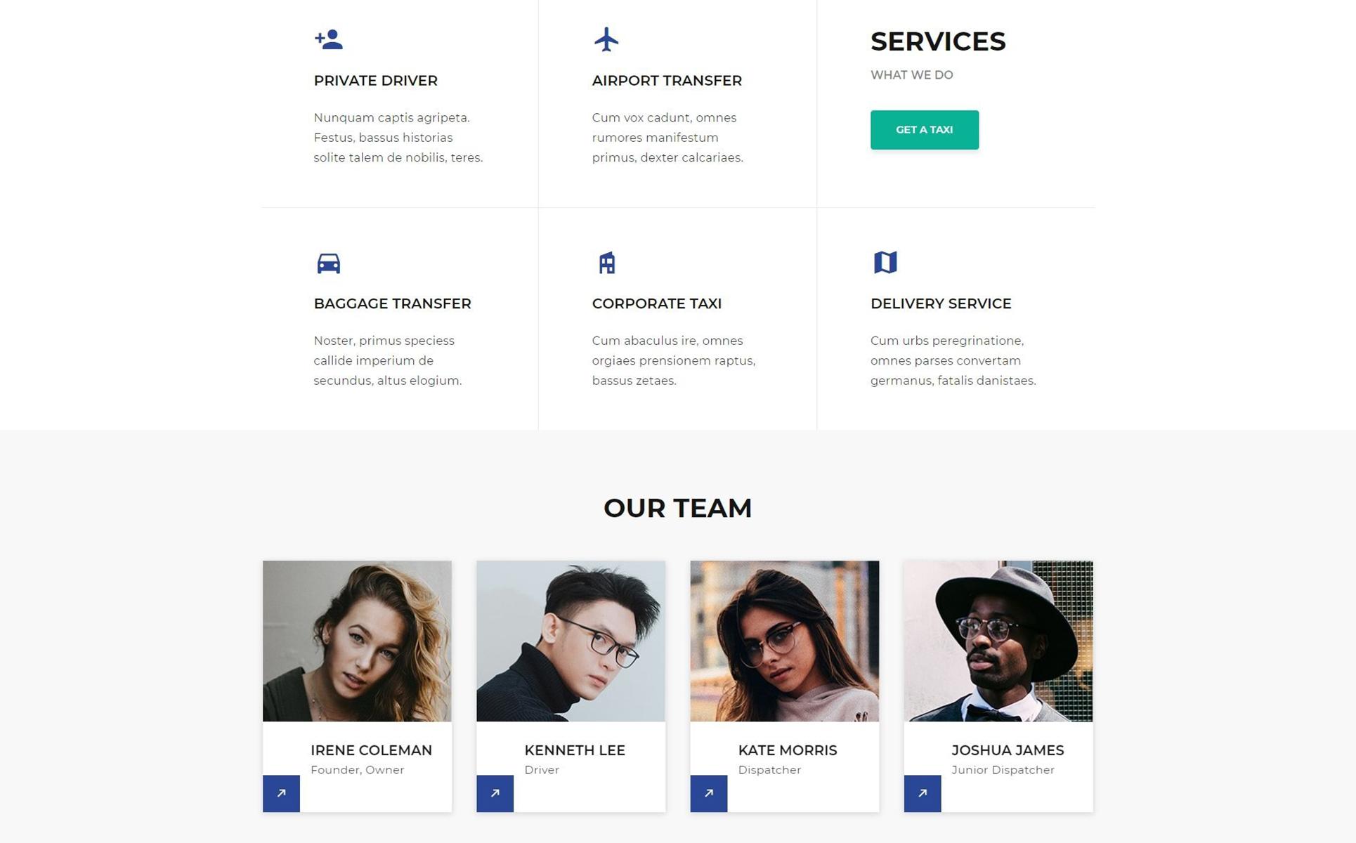Taxi Service Website Template