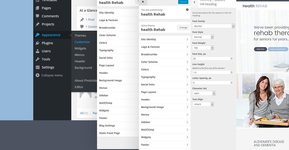 WordPress шаблон #61243 на тему центр реабилитации от Templa