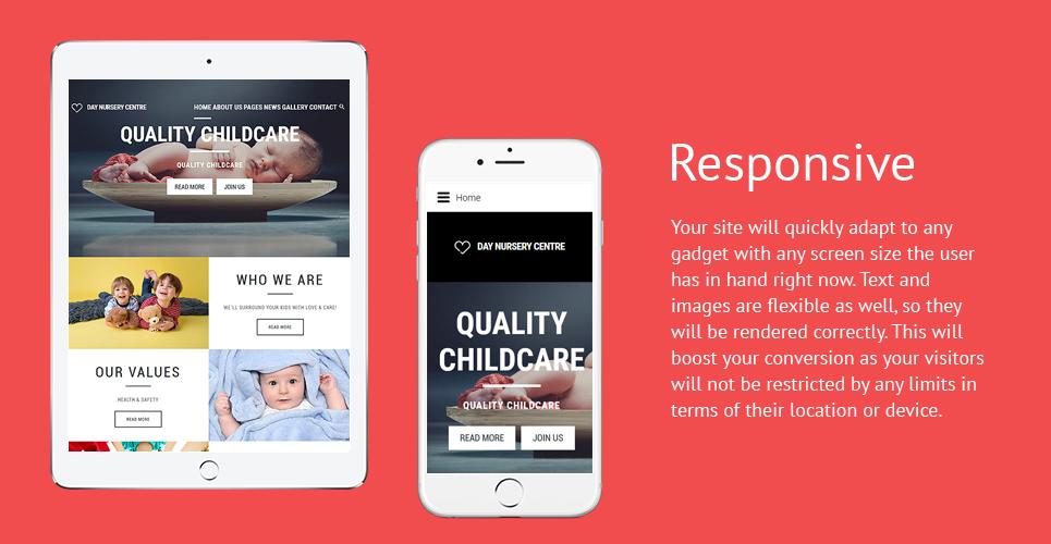 Day Nursery Center - Child care & Babysitter Responsive Joomla Template
