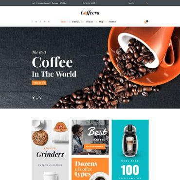 Купить Шаблон интернет-магазина кофе. Купить шаблон #61274 и создать сайт.