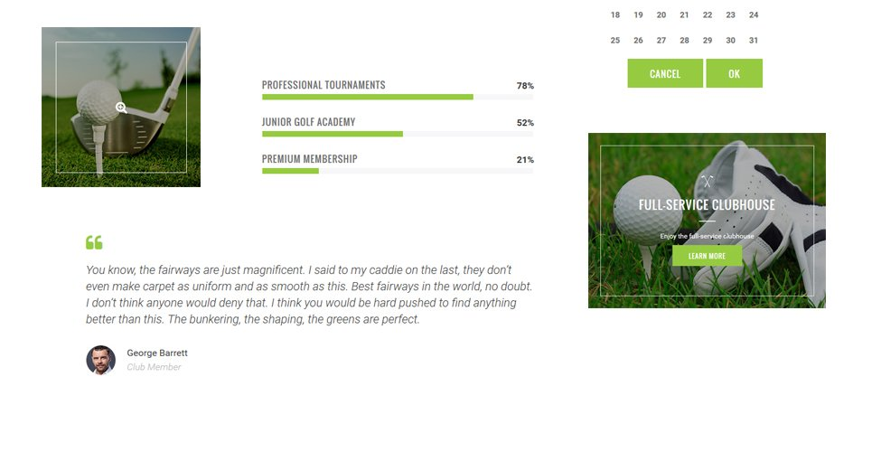 golf club responsive website template. Black Bedroom Furniture Sets. Home Design Ideas
