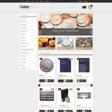Купить Shopify шаблон интернет магазина коллекционных монет - COINS STORE. Купить шаблон #61284 и создать сайт.