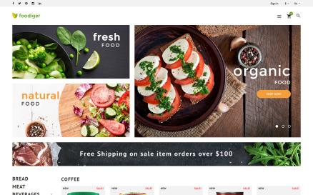 Foodiger - Grocery Store PrestaShop Theme