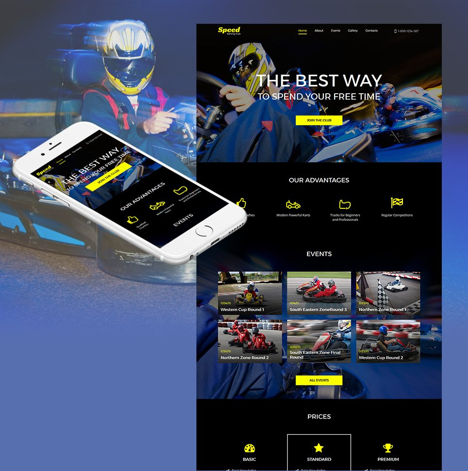 Speed HTML Website Template - image