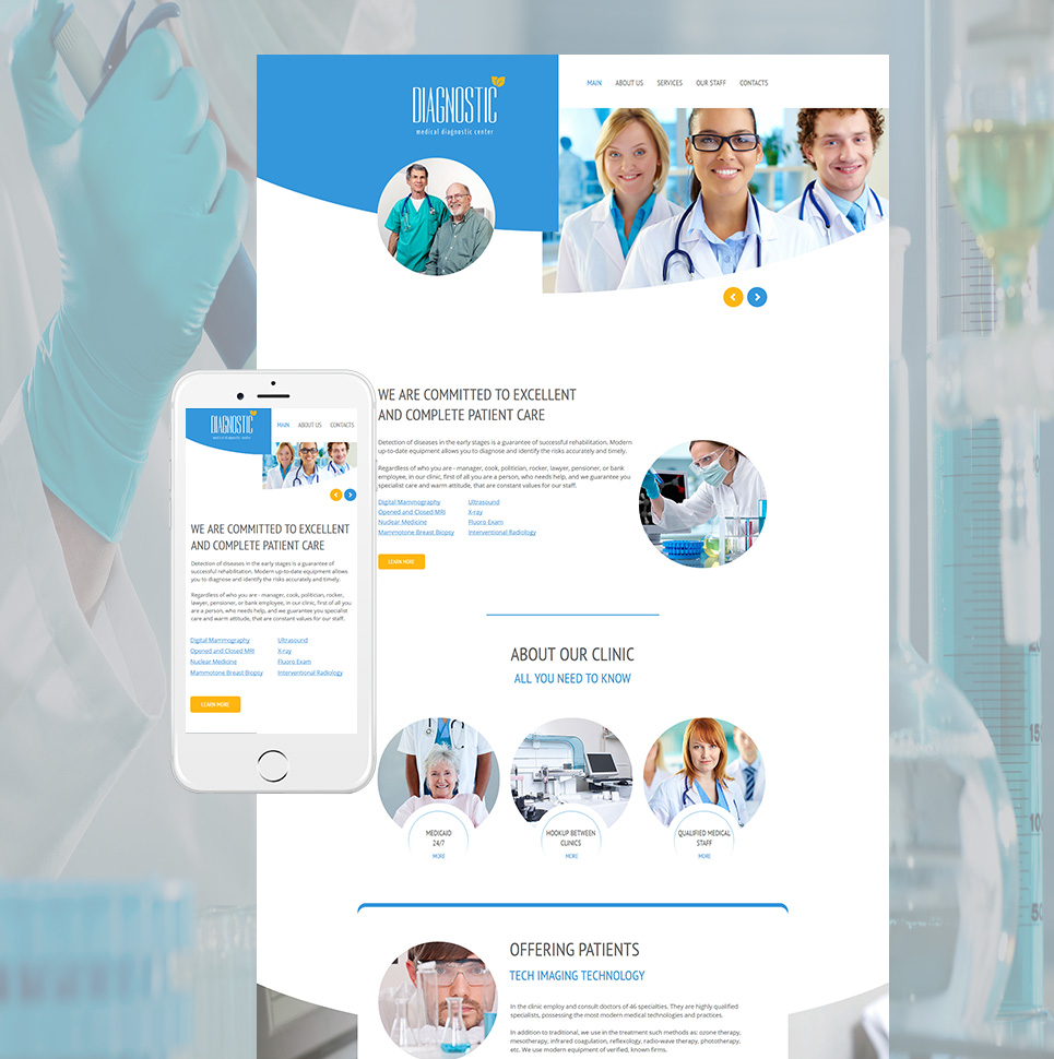 Diagnostic HTML Website Template - image
