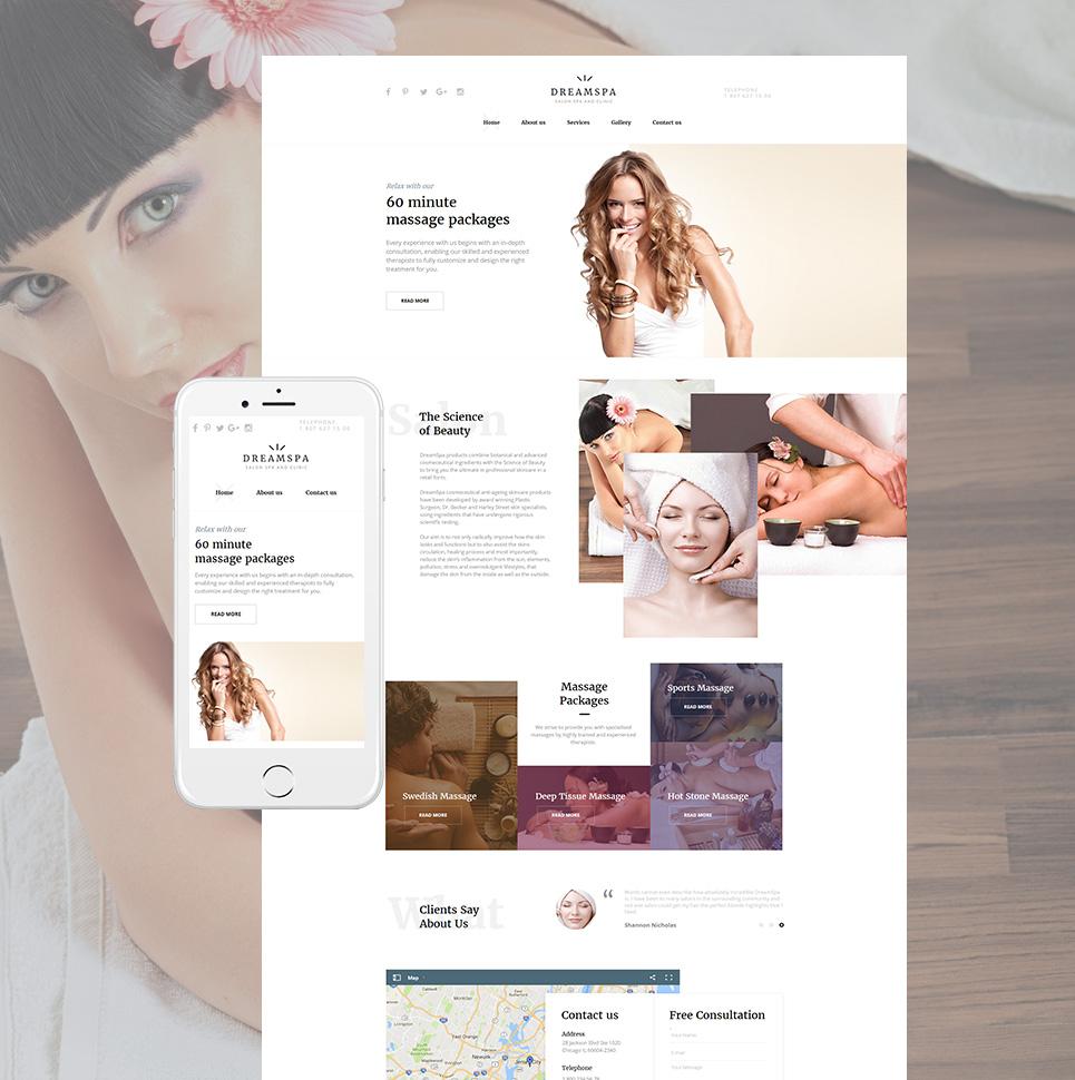 Dreamspa HTML Website Template - image