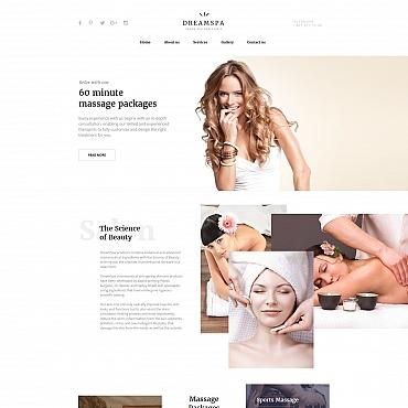 Купить Шаблон сайта салона красоты - DREAMSPA. Купить шаблон #61290 и создать сайт.