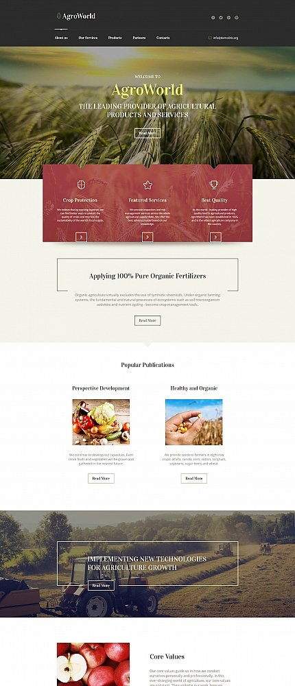 ADOBE Photoshop Template 61292 Home Page Screenshot