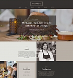 Cafe & Restaurant Moto CMS HTML  Template 61293