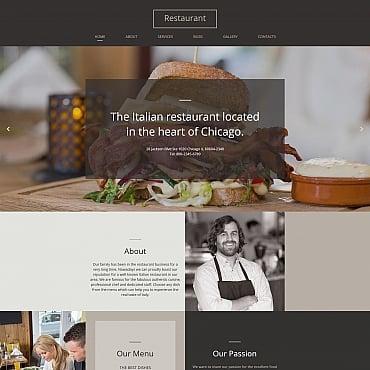 Купить Moto CMS HTML шаблон сайта итальянского ресторана. Купить шаблон #61293 и создать сайт.