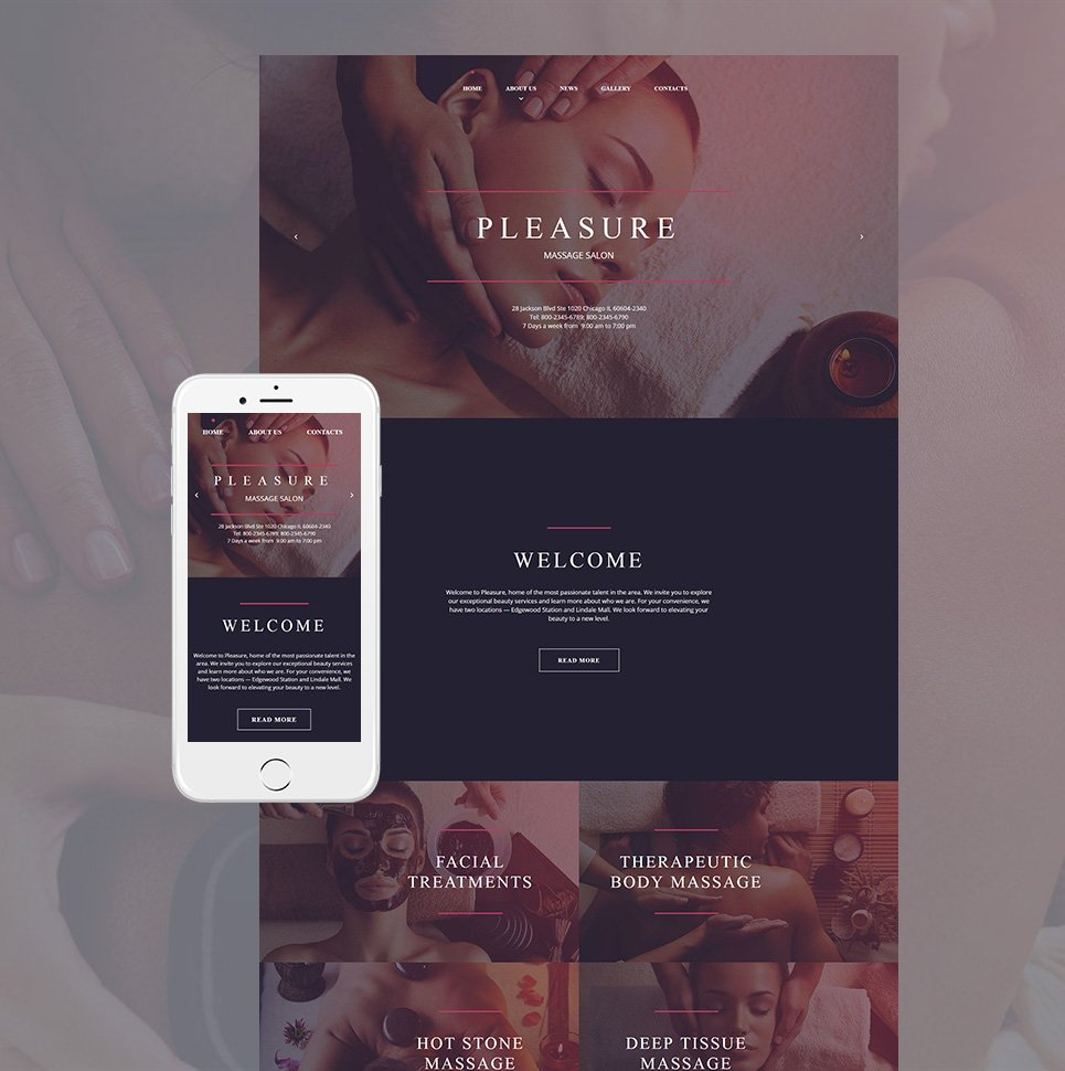 Pleasure html HTML Website Template - image