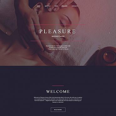 Купить Шаблон сайта салона красоты для MOTO CMS. Купить шаблон #61294 и создать сайт.