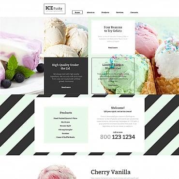 Купить Moto шаблон сайта производителя мороженого - ICE Funky. Купить шаблон #61296 и создать сайт.
