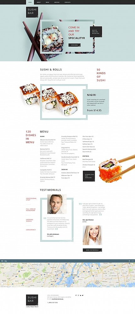 ADOBE Photoshop Template 61297 Home Page Screenshot