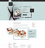 Cafe & Restaurant Moto CMS HTML  Template 61297