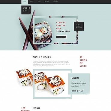 Купить Moto CMS HTML шаблон сайта суши бара . Купить шаблон #61297 и создать сайт.