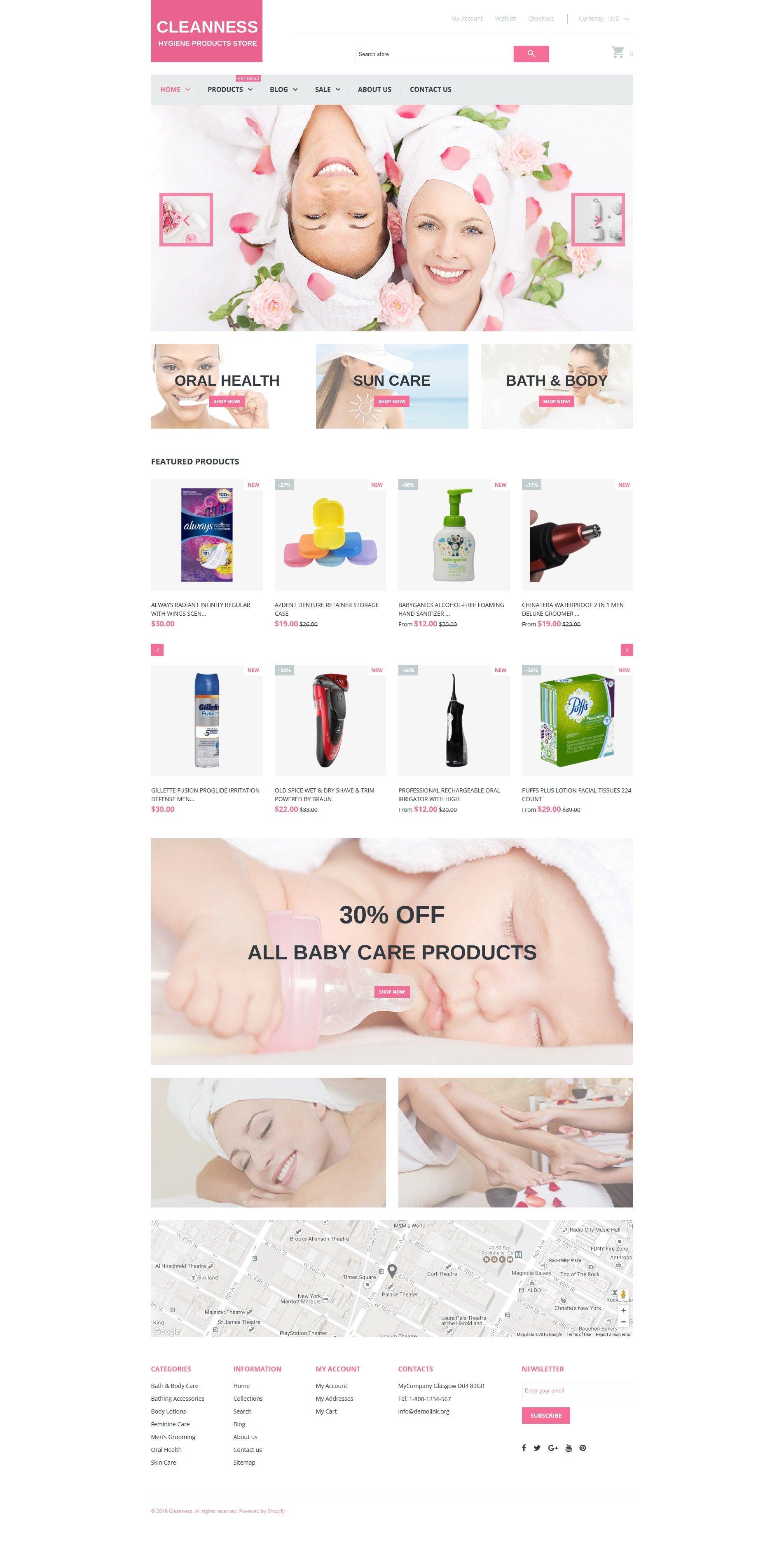 Адаптивный Shopify шаблон №61207 на тему товары для спа - скриншот