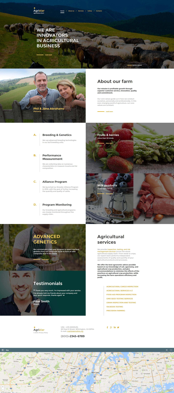 Modèle HTML de l'Agriculture Moto CMS
