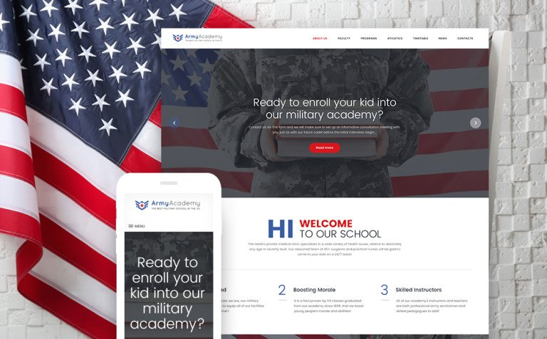 Army - Military Academy Responsive WordPress Theme New Screenshots BIG