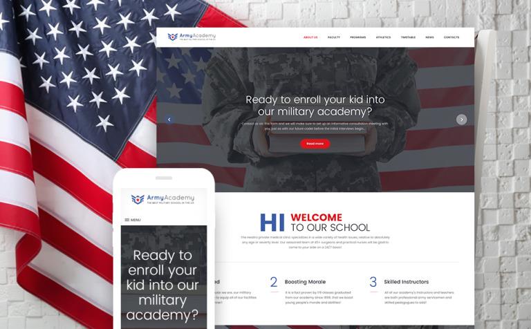 Army - Military Academy Responsive WordPress Theme