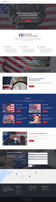 Army - Military Academy Responsive