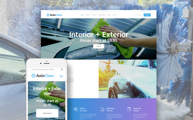 AutoClean - Car Wash & Car Repair WordPress Theme New Screenshots BIG