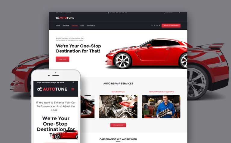 AutoTune - Car Tuning WordPress Theme New Screenshots BIG