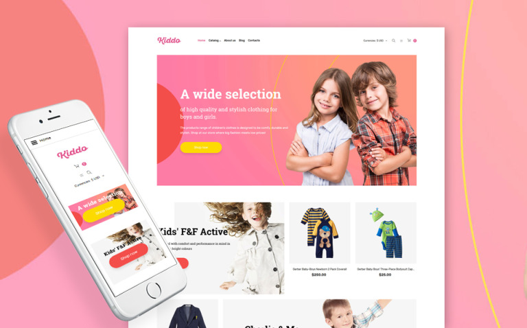 Baby Store Responsive VirtueMart Template New Screenshots BIG