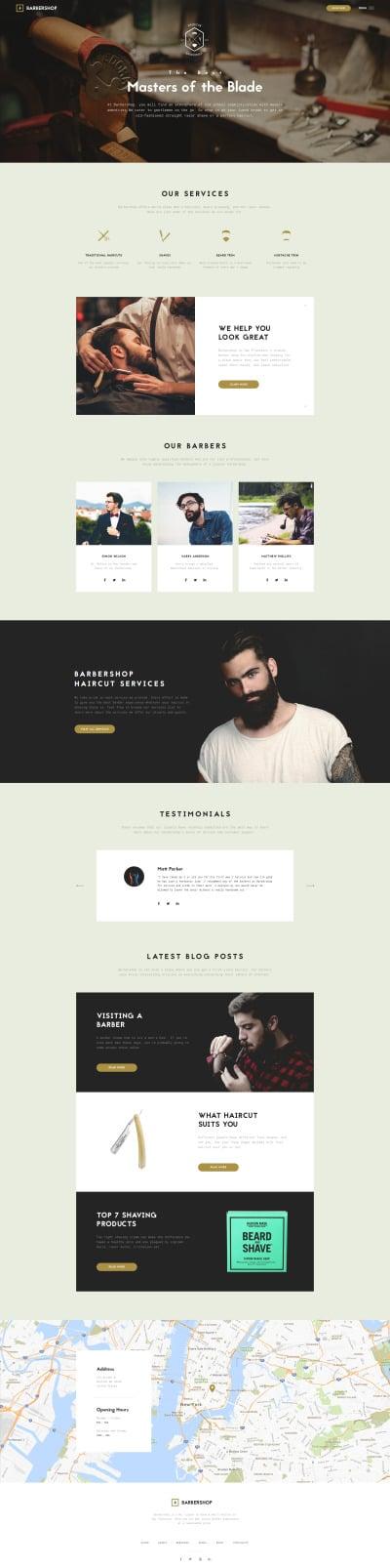 Barbershop - Hair Care & Hair Styling Website Template #61206