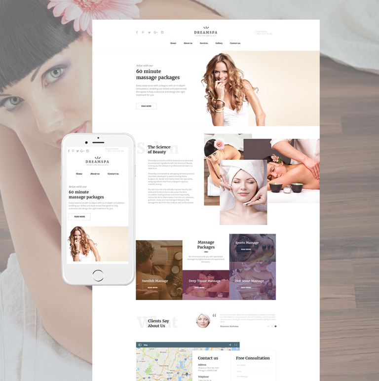 Beauty Salon Moto CMS HTML Template New Screenshots BIG