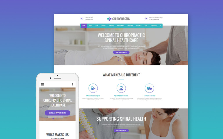 Chiropractic - Alternative Medicine Website Template New Screenshots BIG