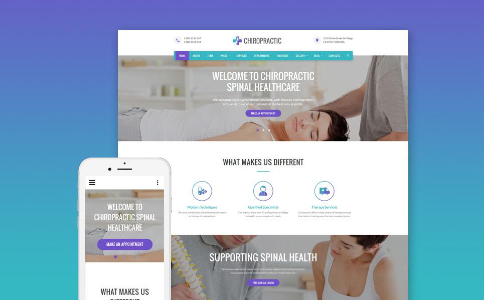 Download Chiropractic - Alternative Medicine Website Template theme ...
