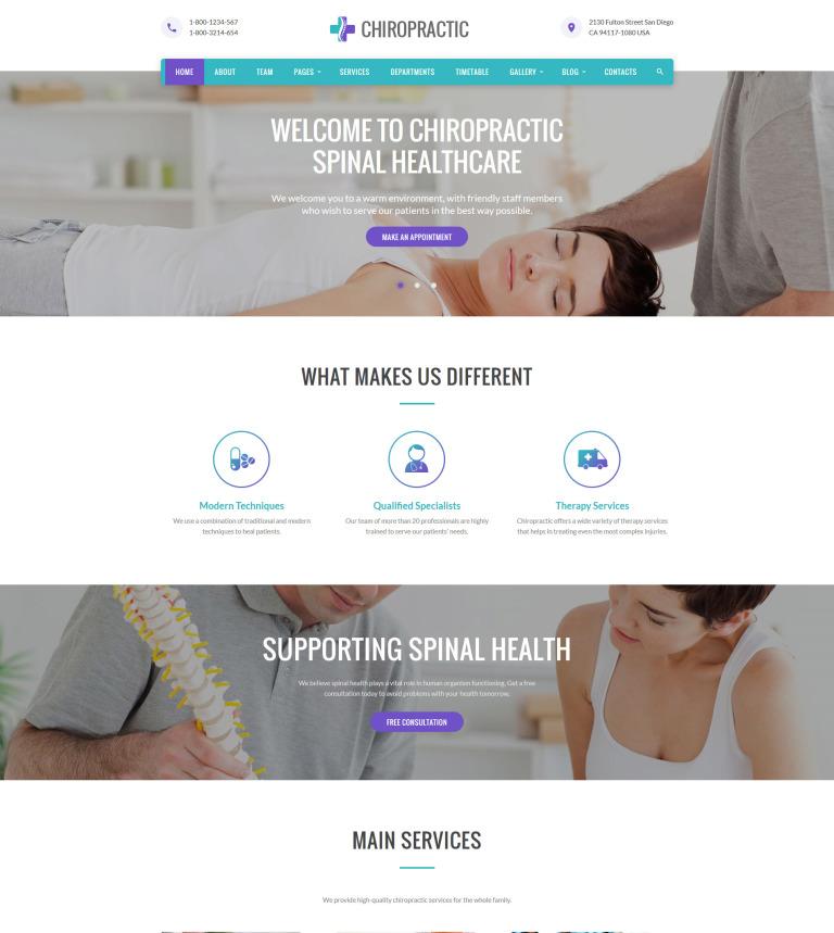 Chiropractic Website Template