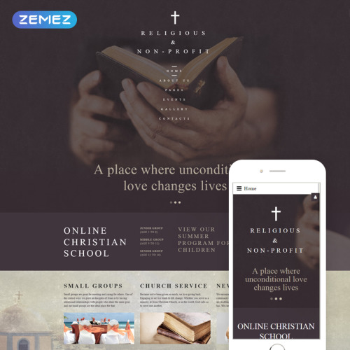 Christian Church  - Joomla! Template based on Bootstrap