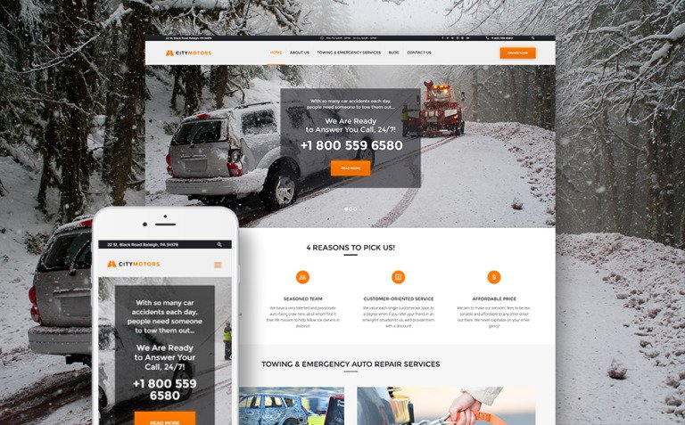 CityMotors - Auto Towing Company WordPress Theme New Screenshots BIG
