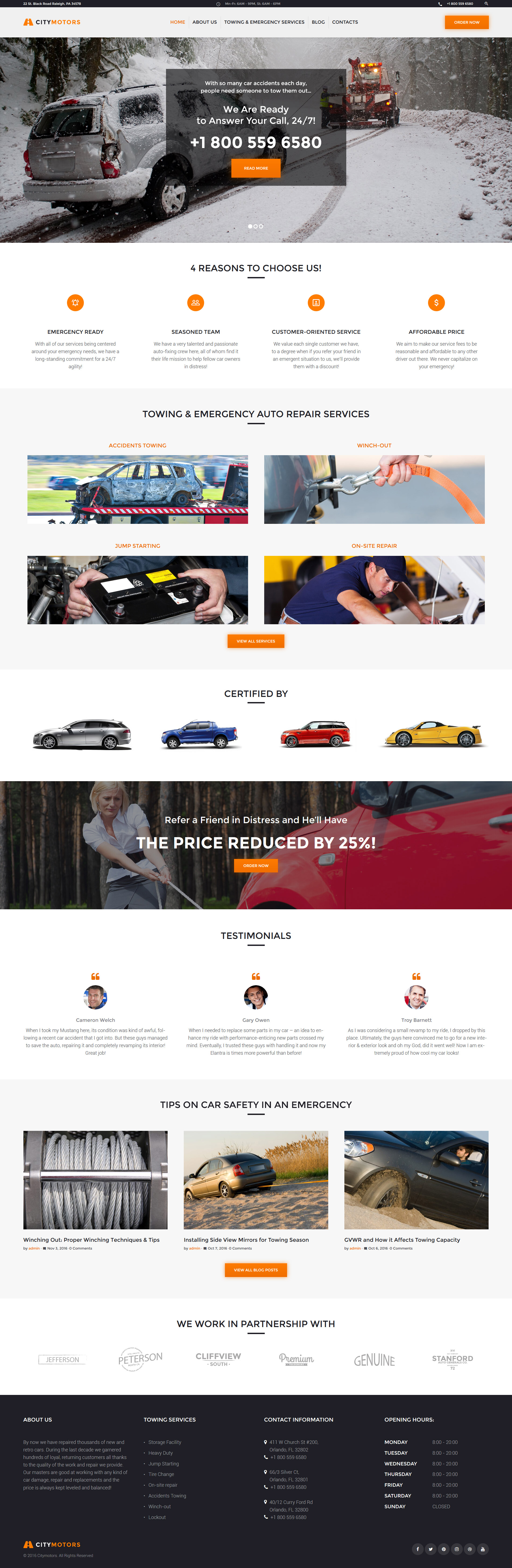 CityMotors - Auto Towing Company WordPress Theme - screenshot