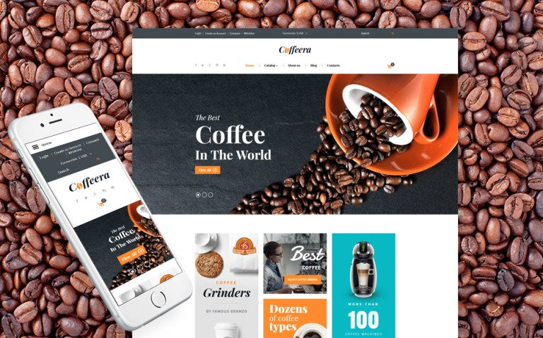 Coffeera VirtueMart Template New Screenshots BIG