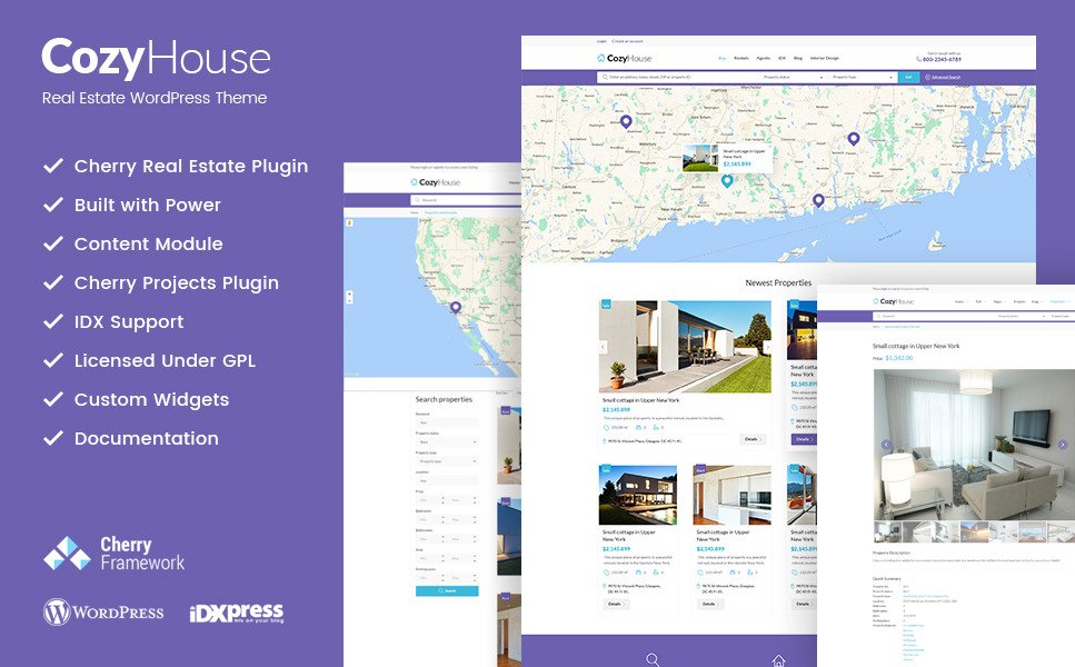 CozyHouse - Real Estate Premium WordPress Theme New Screenshots BIG