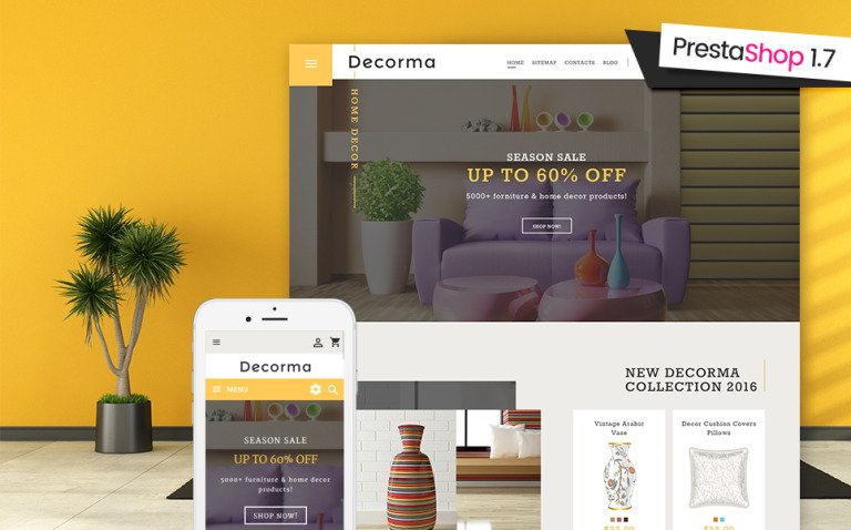 Decorma - Furniture Responsive PrestaShop 1.7 theme New Screenshots BIG
