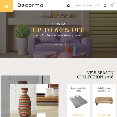 Decorma  - PrestaShop Furniture Template based on Bootstrap