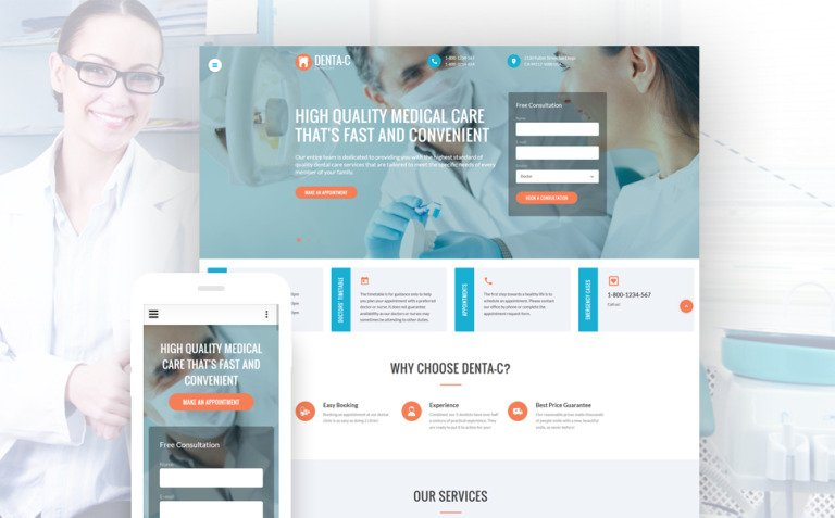 Dental Center Website Template New Screenshots BIG