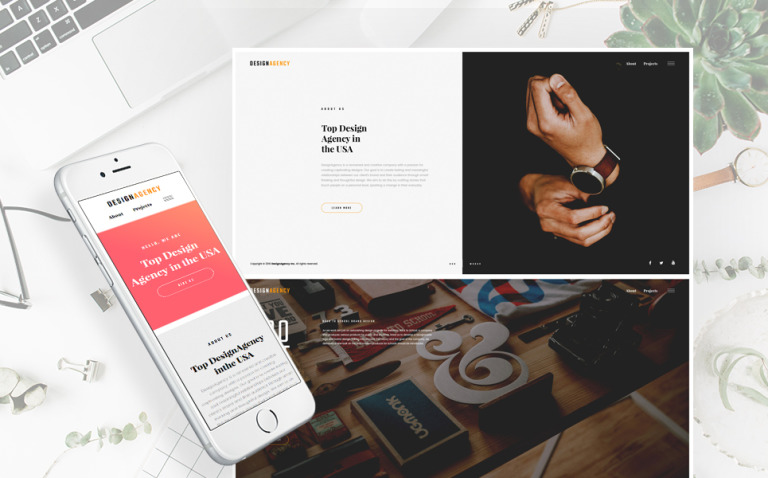 Design Agency Responsive Multipage Website Template New Screenshots BIG