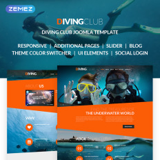 Joomla directory templates template monster diving club sports outdoors diving responsive joomla template 15 accmission Choice Image